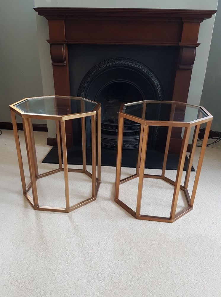 OKA Octagon Side Table (PAIR) Octagon, Table