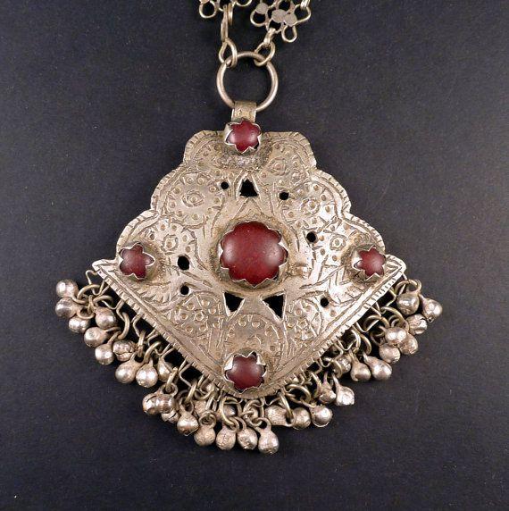 Old Kashmiri necklace, India, Kashmir jewellery, ethnic tribal necklace…