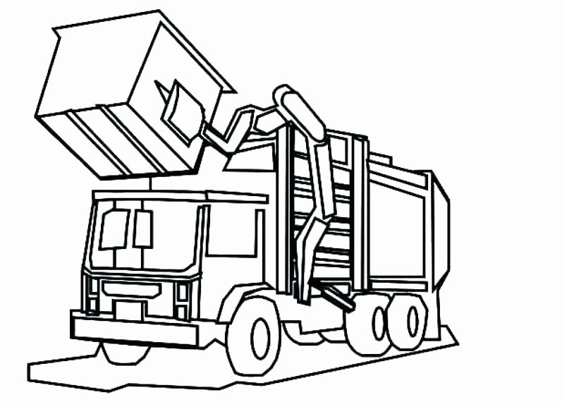 Big Truck Coloring Pages Luxury Dump Truck Colouring Pages ...
