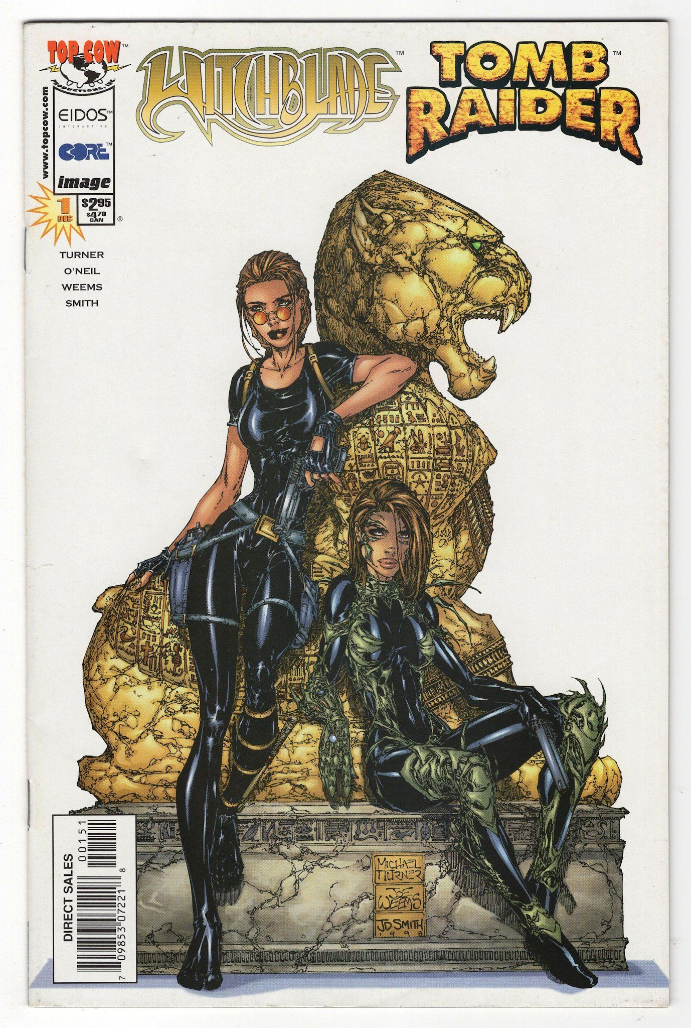 Witchblade Tomb Raider 1 Michael Turner Variant Cover 1998