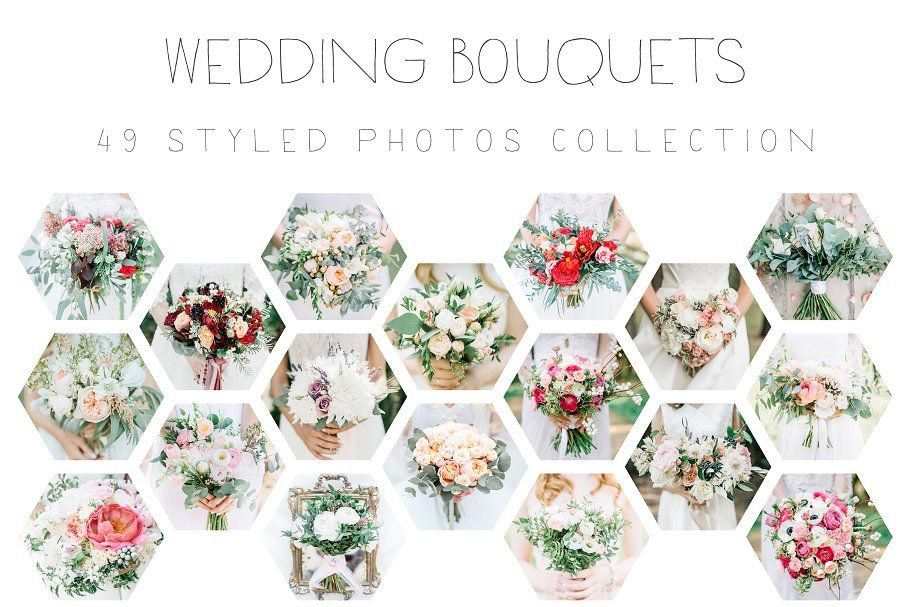 Wedding Bouquets by Floral Deco on @creativemarket