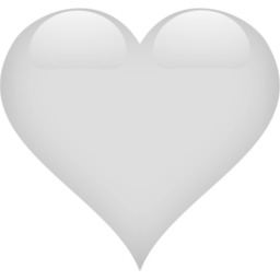Heart 2 White Icon White Heart Emoji Heart Icons White Heart