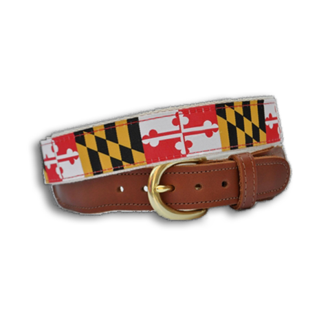 Maryland Flag White Strings Bikini Top Maryland Flag Belt Maryland