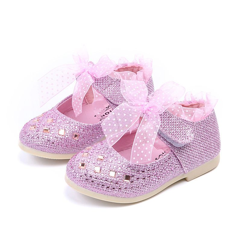 8bf04184d0e8c COZULMA Children Shoes Crystal Kids Girls PU Leather Shoes Baby Girls  Princess Lace Flower Rhinestone Party