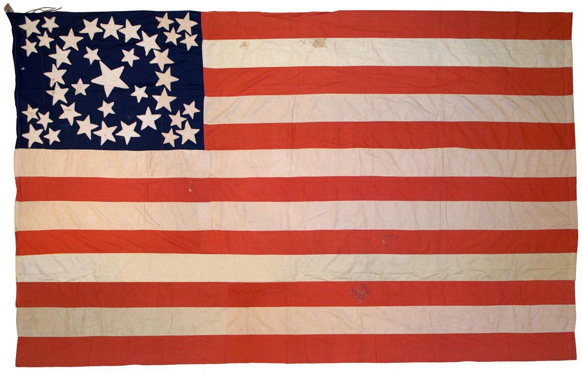 1876 Rare Medallion Flag Flag Americana Historical