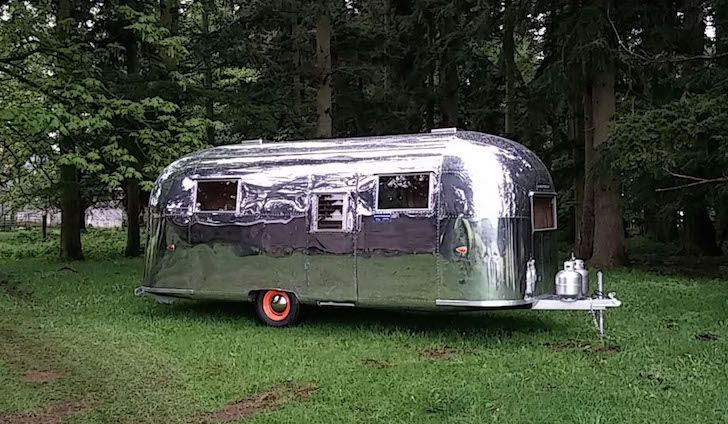 Mobile Bar Made From A 1960 Airstream Flying Cloud Trailer With