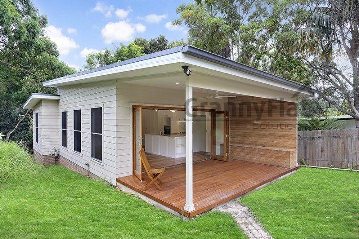 60m2 1 Bedroom Custom Designed Granny Flat 60 Sqm Granny Flat 1 Bedroom Weathertex Exterior Cladding Large Bath Backyard House Granny Pod Granny Flat