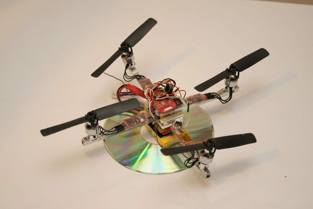 Building a palm size quad-copter & Introducing a new simple