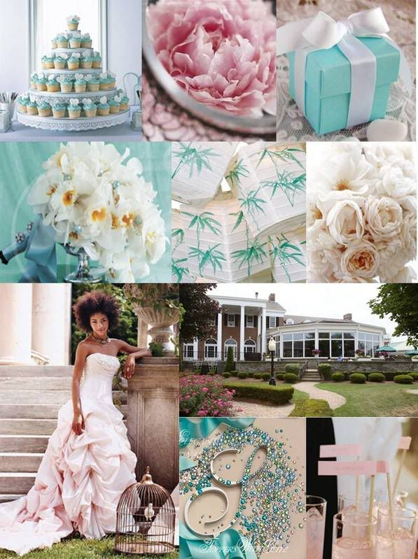 Tiffany Blue And Pink Wedding Tiffany Blue Wedding Wedding Collage