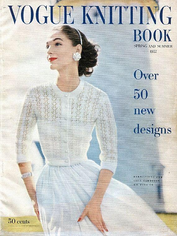 1957 Vogue Knitting Book PDF (all 59 patterns & front matter ...