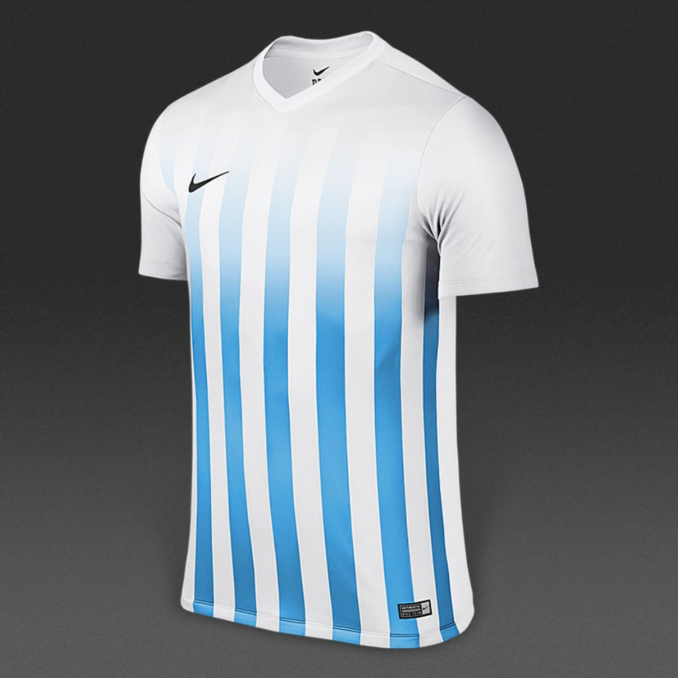 72b1bdb3b952 Nike Striped Division II SS Jersey - White University Blue Black