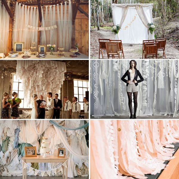 Diy Wedding Backdrops Ideas: Ideas For Creating A Fabric Backdrop, Where To Buy + Diy