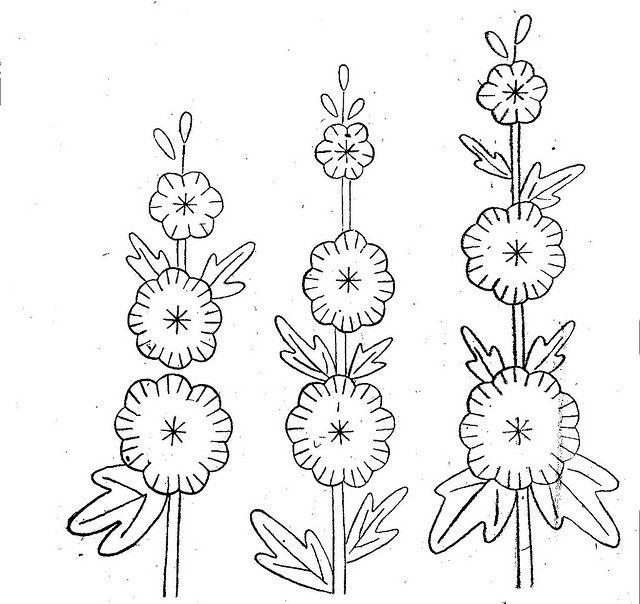 Tall Flowers | Bordado, Patrones para bordar y Dibujo