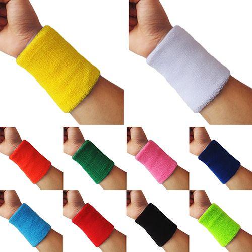 2 x Sports Wrist Sweatbands Tennis Squash Badminton GYM Wristband Gift UK UK