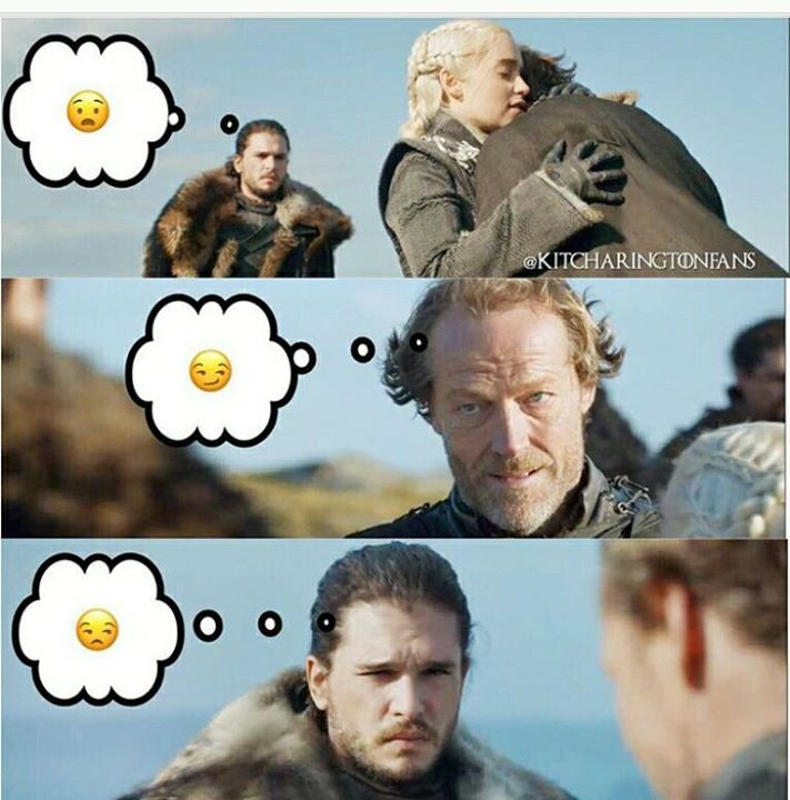 So many unspoken words 😂 Check out our Game of Thrones Merch Store: https://thinkgot.com    #winteriscoming #gameofthrones #GoT #gameofthronesfamily #jonsnow #instalike #f4f #like #gameofthroneshbo #gameofthronesfan #gameofthronesmemes #westeros #got7 #khaleesi #housestark #nightswatch #youknownothingjonsnow #asongoficeandfire #stark #lannister #daenerystargaryen #targaryen #daenerys #sansastark #tyrionlannister #motherofdragons #housestark #winterfell #jaimelannister