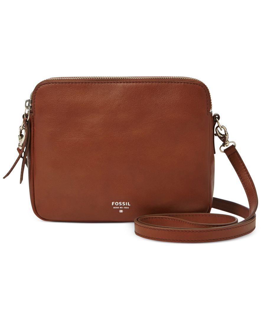 8a3f6511cf Fossil Sydney Leather Crossbody - Fossil - Handbags & Accessories - Macy's