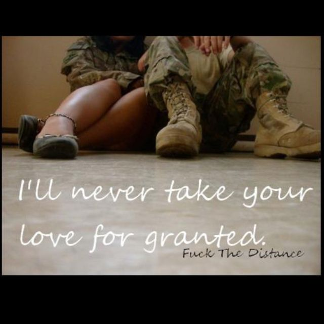 I will never take it for grant it again I will be there to love you as much as you love me..