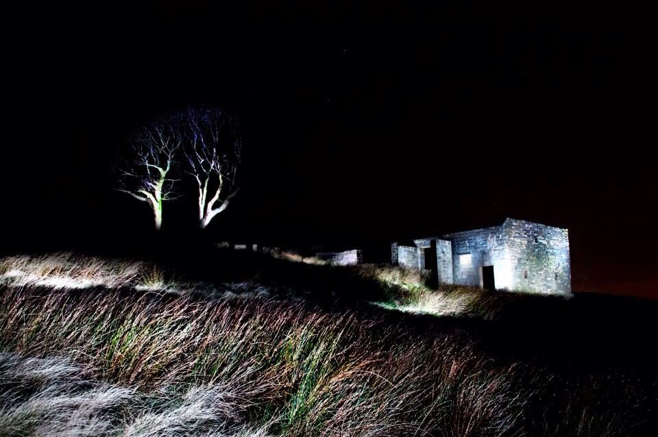 Top Withens by night. Lit by hand held flash and me running round like a loony!