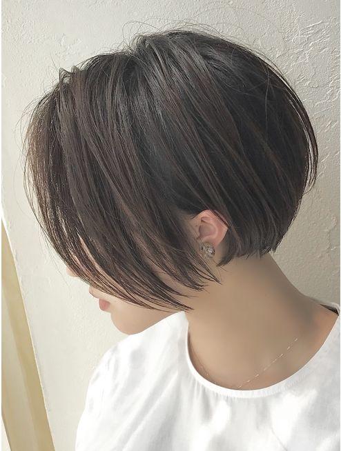 前さがりショートボブ(前髪なし):L051021382|バンプ 銀座(BUMP)のヘアカタログ|ホッ