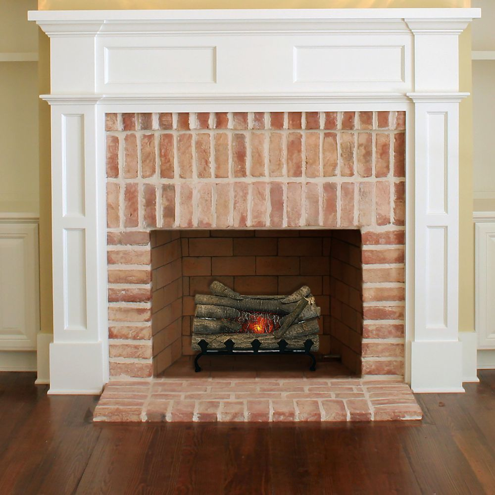 Electric Crackling Log With Grate Electric Fireplace Electric