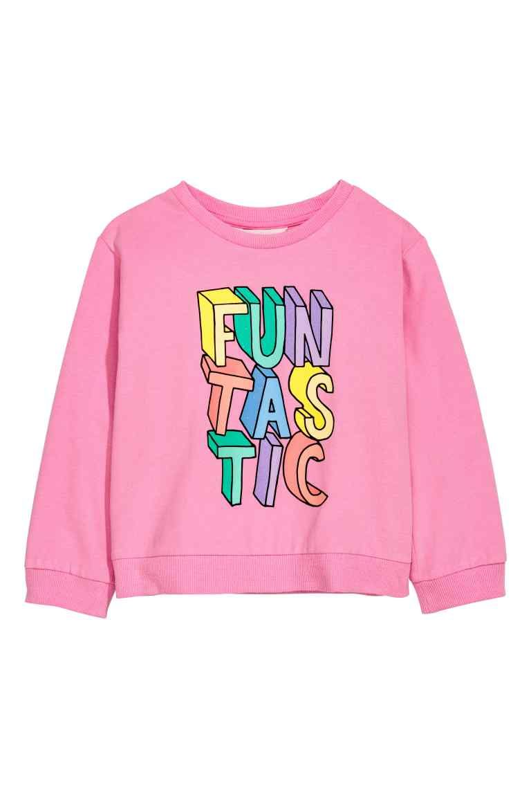 Glitterende sweater Rozeglitters DAMES | H&M NL