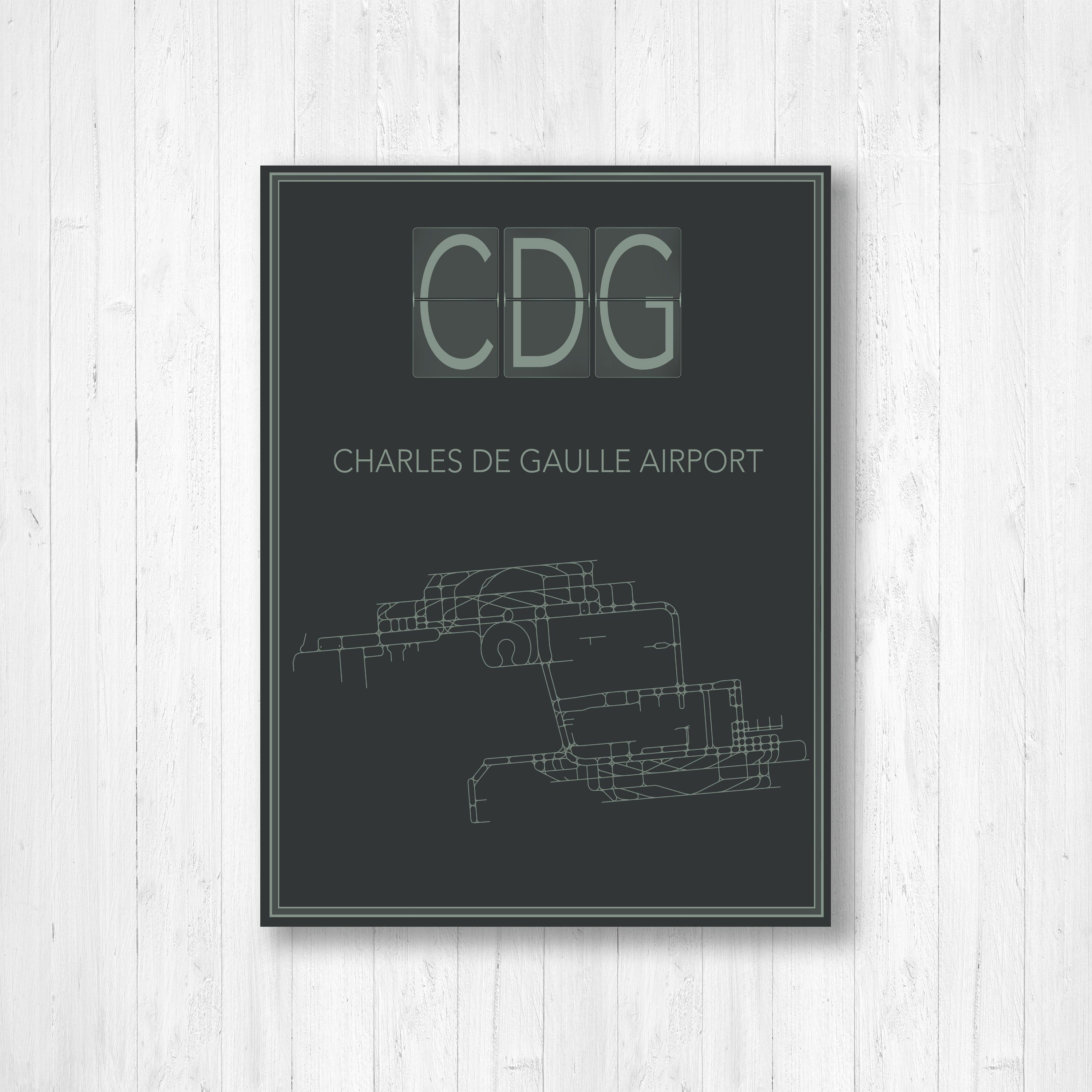 Paris Charles De Gaulle Airport International Airport Map Etsy Airport Map Charles De Gaulle Airport Map Wall Art