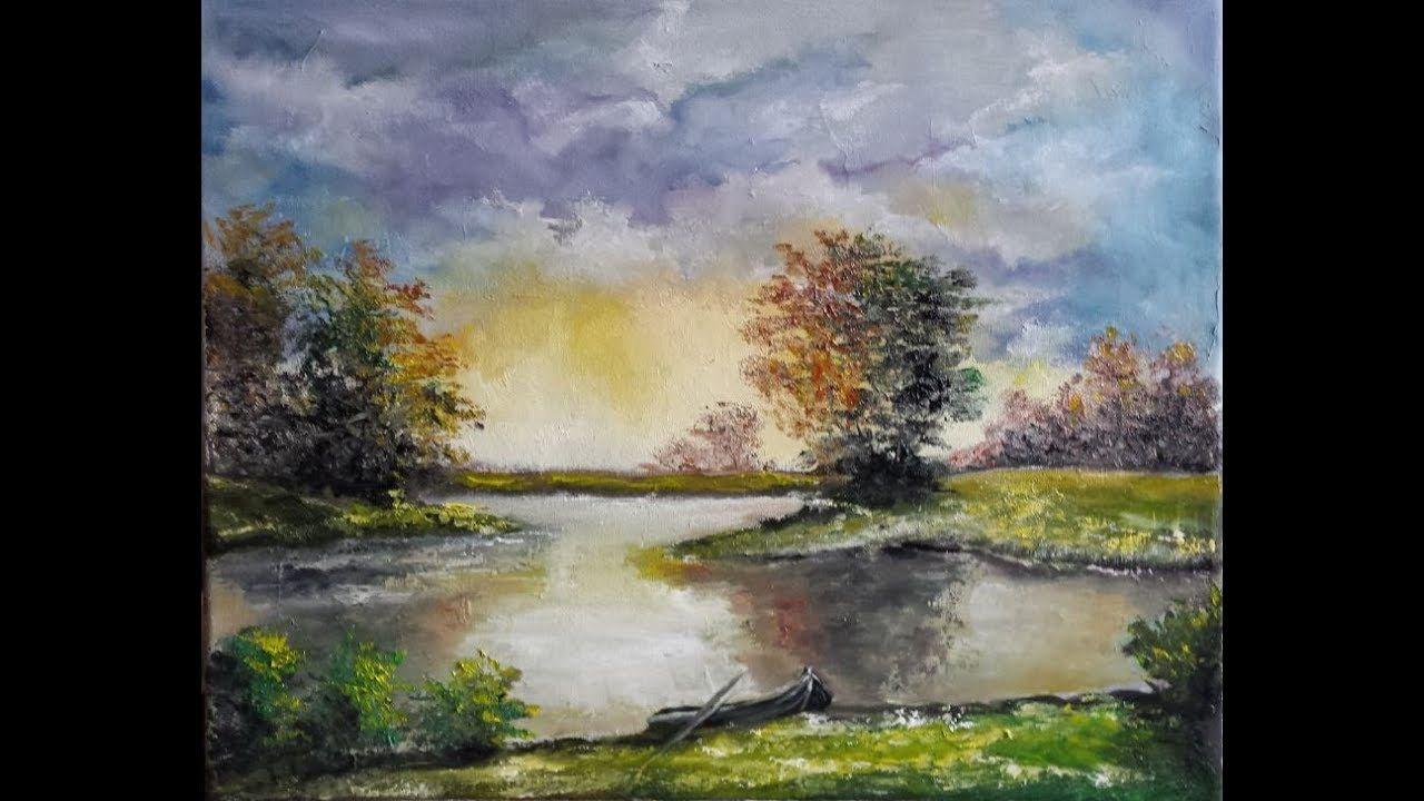 Landschap Schilderen Met Olieverf Landscape Oil Painting Youtube Olieverf Painting Schilder