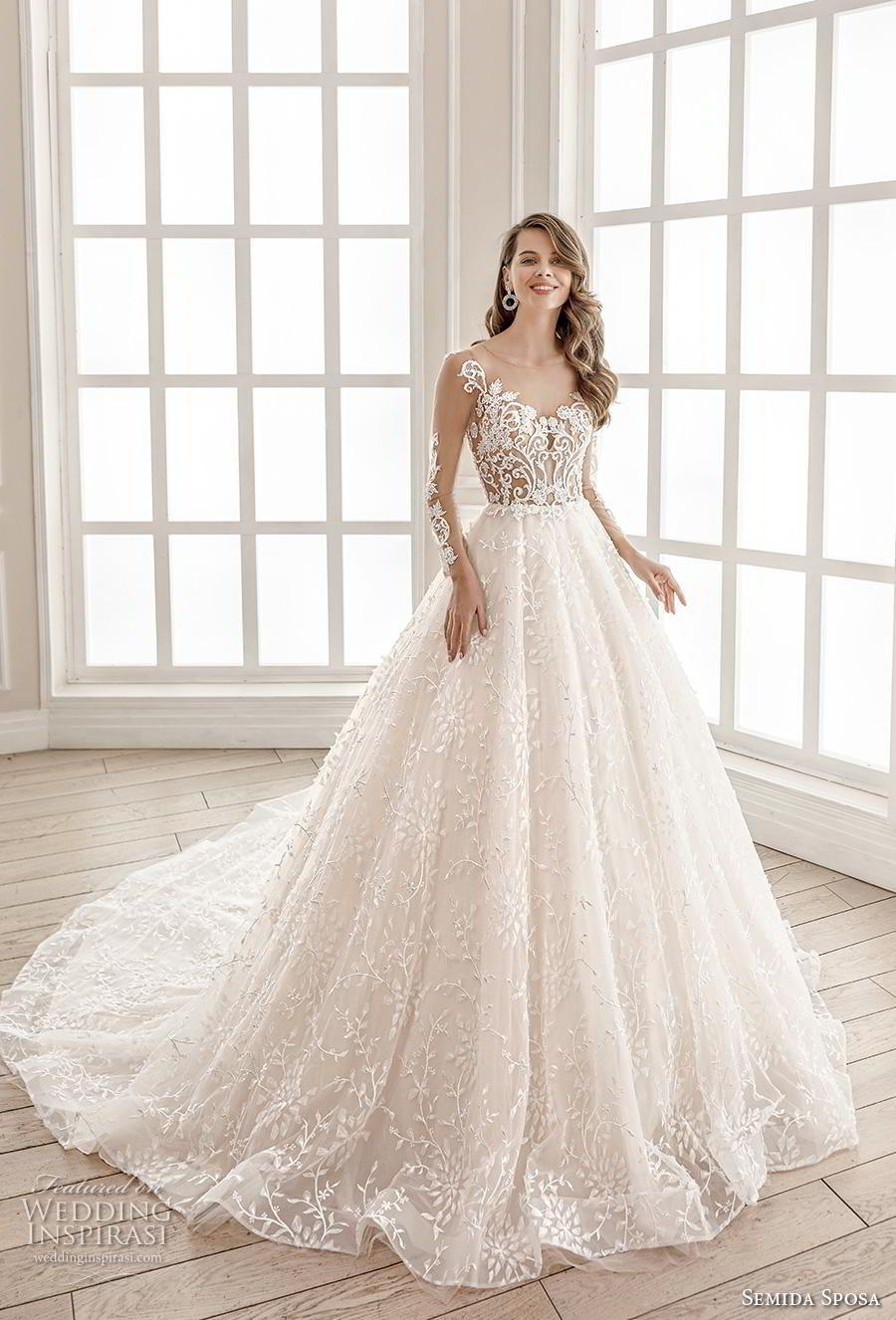 Semida Sposa 2020 Wedding Dresses Amazon Bridal Collection Wedding Inspirasi Sheer Wedding Dress Bridal Dresses Princess Ball Gowns