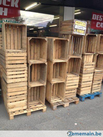 caisses en bois cageots en bois a vendre caisses en bois pinterest cageot en bois. Black Bedroom Furniture Sets. Home Design Ideas