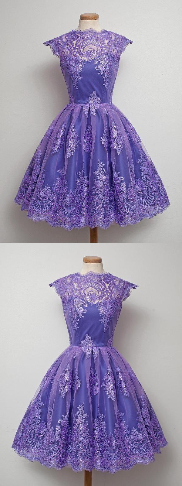 Custom made feminine vintage short purple in short