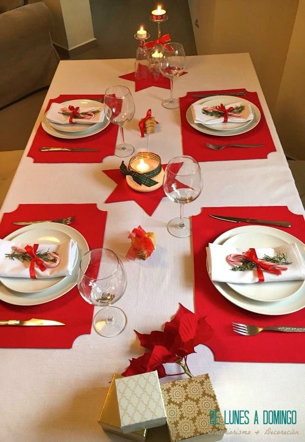 De lunes a domingo decoramos una mesa de navidad para la - Ideas de cena de navidad ...