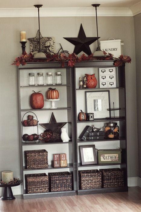 Fall Bookcases Home Decor Bookshelf Decor Decor