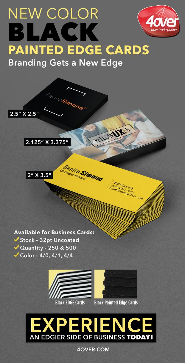 New Black Edge Cards Blackedge Businesscards Paintededge Painting Edges Printer New Color
