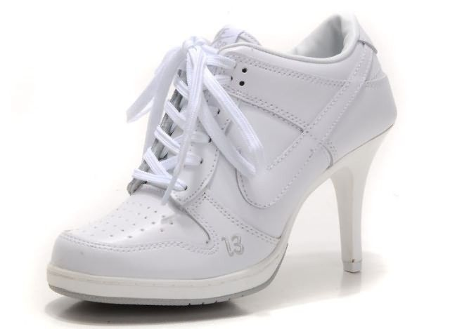 purchase cheap d2d53 9aff6 Nike Dunk Unlucky 13 High Heels White