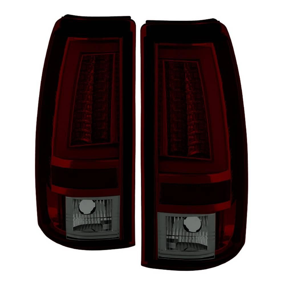 Spyder Auto Chevy Silverado 1500 2500 99 02 Not Fit Stepside Version 2 Led Tail Lights Red Smoke 5081889 Chevy Silverado 1500 Chevy Silverado Led Tail Lights