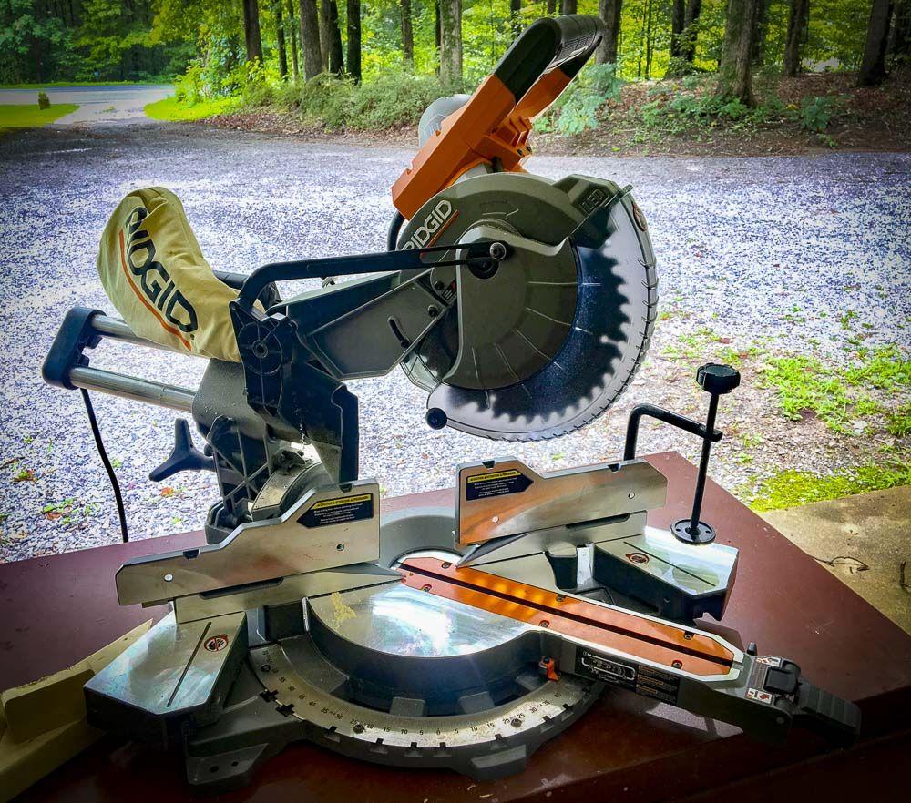 Ridgid 10 Dual Bevel Compound Miter Saw R4210 Review Miter Saw Power Tools Compound Mitre Saw