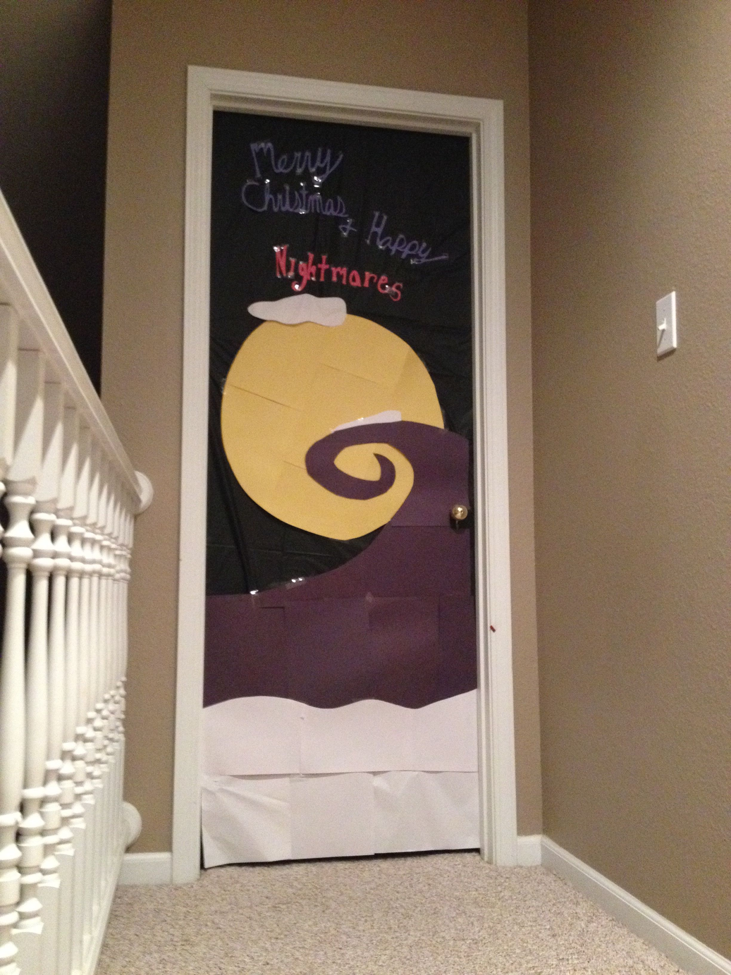Nightmare Before Christmas Door Awesome Christmas