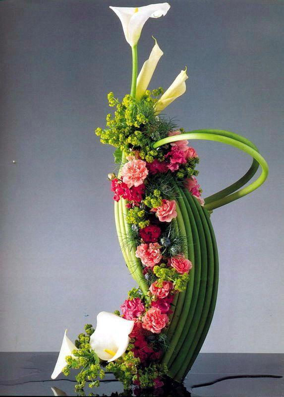 Ideas Para Centros De Mesa Modernos Arreglos Florales Arreglos - Centros-florales-modernos