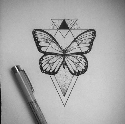 Super Tattoo Butterfly Drawing Art Ideas