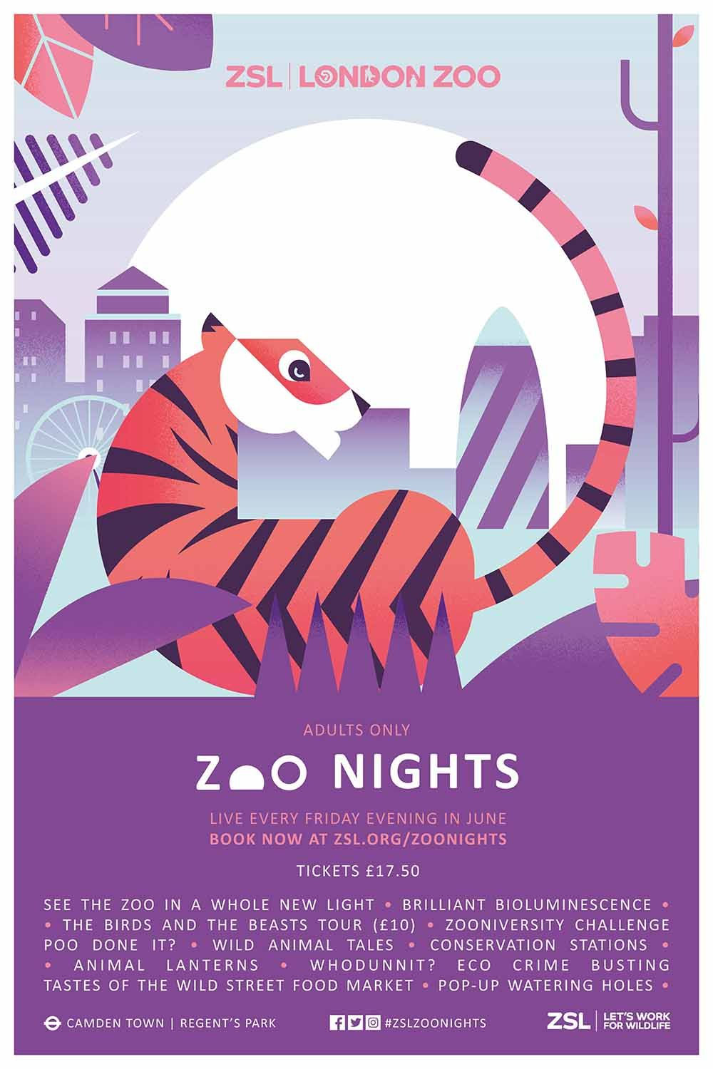 WORK: Identity and campaign for ZSL's Zoo Nights | Event ...