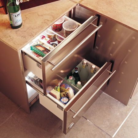A Hideaway Kitchen Alternative Refrigerator Drawers Refrigerator Drawers Outdoor Kitchen Kitchen Design Trends