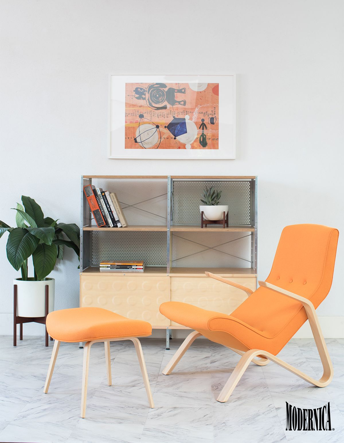 Grasshopper Chair and Ottoman Made in California   Case Study ...