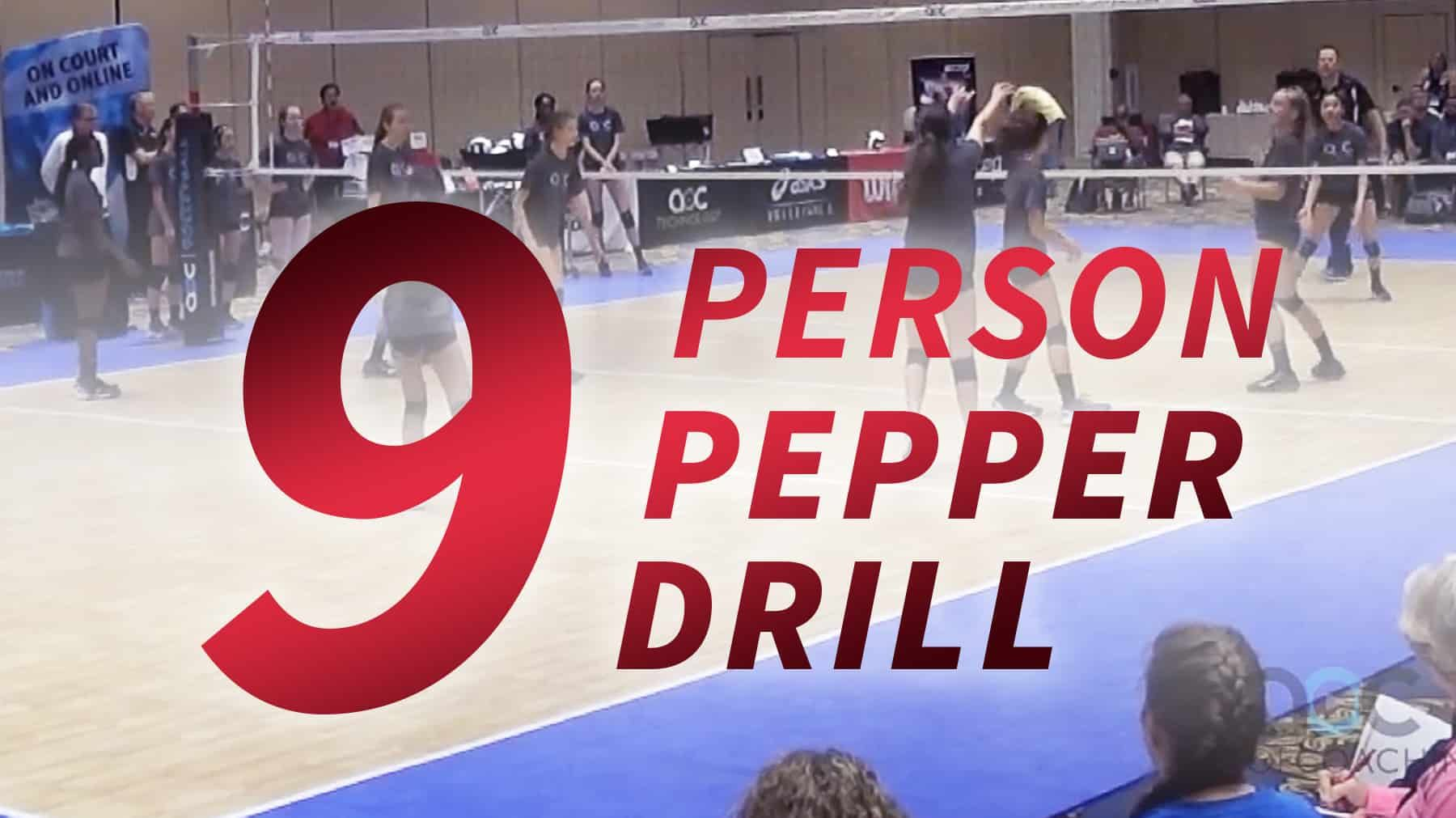 9 Person Pepper Progression Coaching Volleyball Volleyball Drill