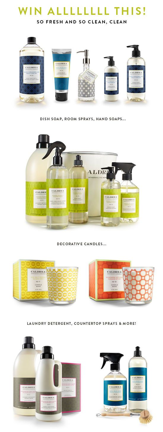 Caldrea Giveaway Designlovefest Cleaning Dishes Laundry Detergent Room Spray
