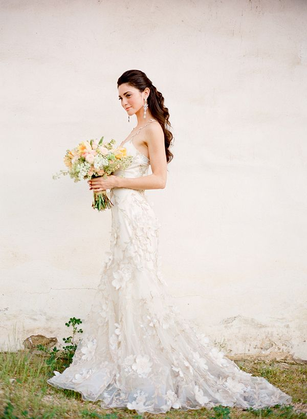 Pose and dress.  Not normally into the flowery look but LOVE this dress!    Love at the Adobe « Jose Villa | Fine Art Weddings