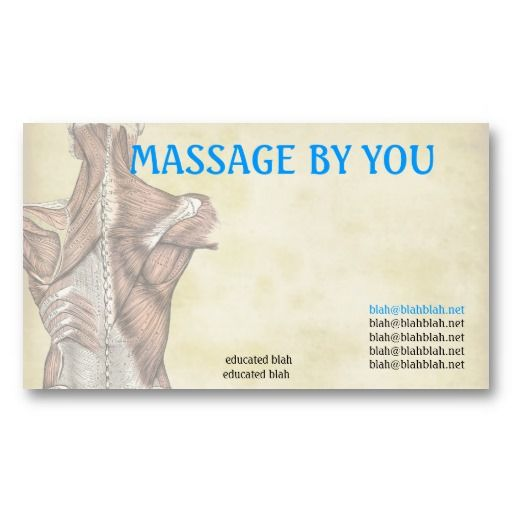Massage therapist business cards business cards pinterest shop massage therapist business card template created by dynomoose personalize it with photos text or purchase as is wajeb Choice Image