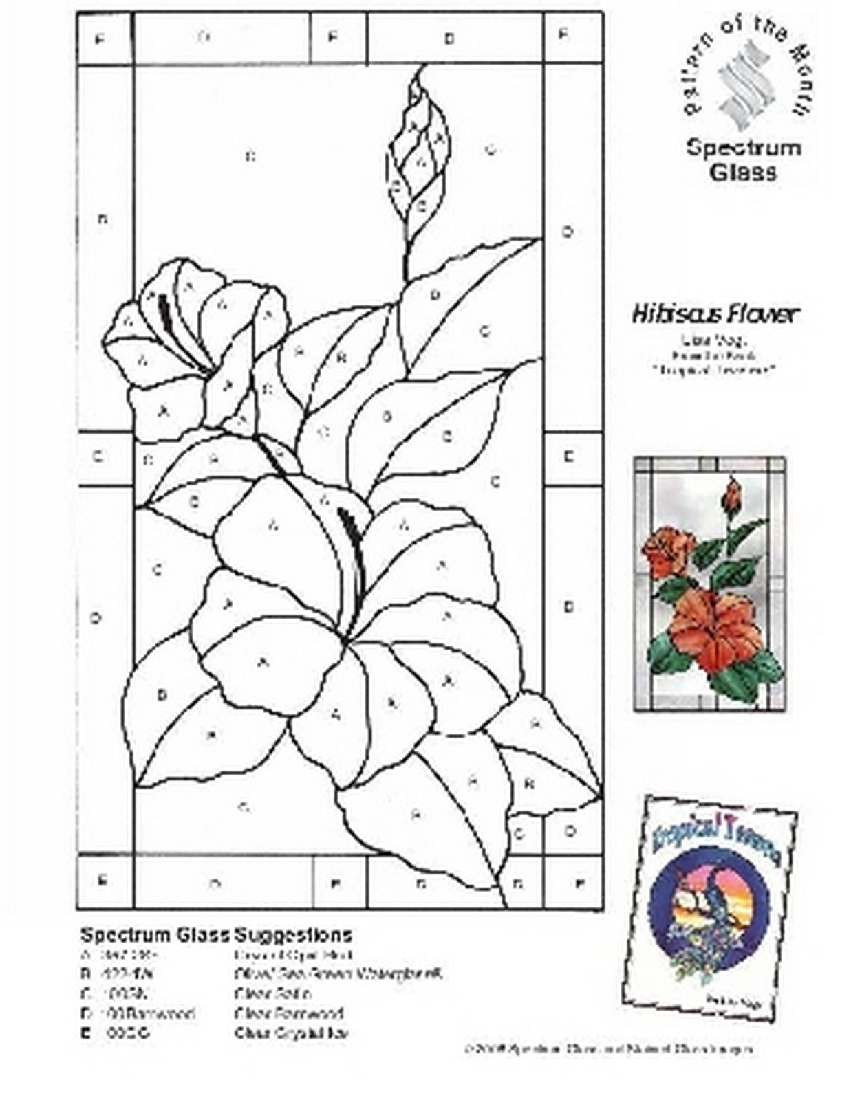 Free stained glass pattern 2293 hibiscus flower stained glass free stained glass pattern 2293 hibiscus flower izmirmasajfo