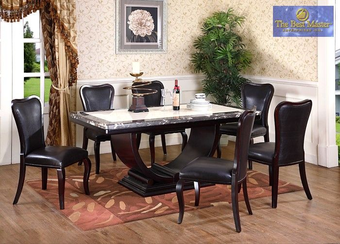 Italian Dining Room Sets | ... DINING ROOM → Dining - Casual → 7 Pc Dining Set / Italian Marble : italian dining table set - pezcame.com