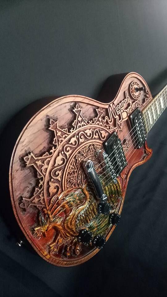 Indonesian Carved Guitar Guitar Art Guitar Music Guitar
