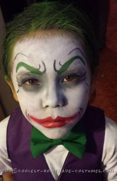 Cool Dark Knight Joker Costume Ideas For Kids Halloween Makeup For Kids Halloween Boys Joker Halloween